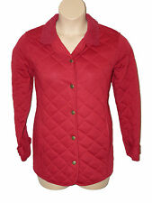 BNWT size 16  BM CASUAL RED QUILTED WARM HANDLE Ladies JACKET