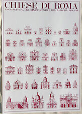 Churches of Rome ARCHITECTURE Renaissance to Baroque 1450-1750 Poster 23x33