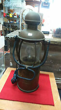 LAMPE DE GARE ANCIENNE ELECTRIFIEE - TRAIN CHEMINOT DECO VINTAGE LOFT REF12576
