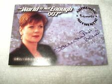 James Bond Movie Autograph Card Samantha Bond as Miss Moneypenny A5