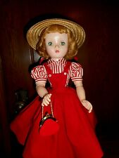 VINTAGE CISSY STUNNING LADY IN RED TAGGED DRESS W/SLIP PANTIES/HOSE/ACCES
