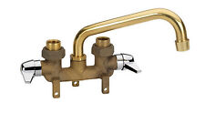Homewerks 2 Handle Kitchen Utility Laundry Tray Brass Sink Tub Faucet, Hose End