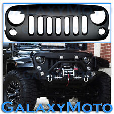 07-15 Jeep JK Wrangler Matte Black Angry Bird Replacement Grille Shell Rubicon
