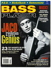 BASS PLAYER Guitar Magazine January  2002 Jaco Pastorious Nickelback Nomeansno