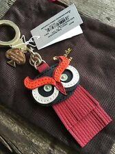 """KATE SPADE NEW YORK """"LEATHER WISE OWL"""" FOB KEY RING/CHAIN, NWT"""