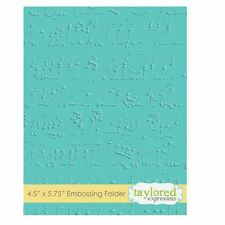 Taylored Expressions ~ A2 Embossing Folder ~ SHEET MUSIC  ~ TEEF06