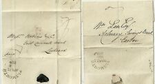 1825/8 DEVON 2 x PLYMOUTH CIRC MILEAGE ON WRAPPERS   BANKS IN EXETER & LISKEARD