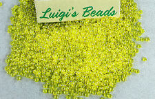 11/0 Round Toho Japan Glass Seed Beads #175- Trans-Rainbow Lemon 15g