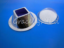 90-120°Optical Glass Lens+ Square Reflector for 10W High Power Led Chip Bead