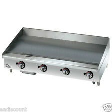 "NEW STAR-MAX 48"" GRIDDLE GRILL MANUAL CONTROLS LP NG 1"" PLATE 648MF"
