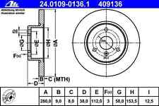 Disco freno (2 PEZZI) SMART-ATE 24.0109-0136.1