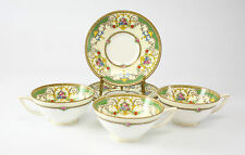 "6pc Minton Tea Cup and Saucer set, ""Kenora""; Hand Painted with Raised Enamel"
