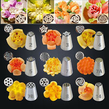 32pcs Russian Tulip Icing Piping Nozzles Cake Pastry Sugarcraft Plunger Tip NEW