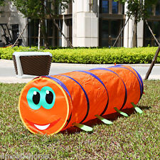 1.5M Folding Kids Caterpillar Tunnel Tube Play Tent Toy Indoor/Outdoor Playhouse