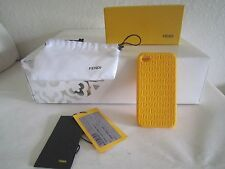 FENDI Soft Rubber case for Apple iPhone 4 4S Yellow