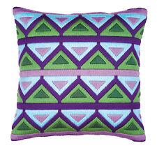 Vervaco 1530/2007 Bold Geometric Triangles Cushion Front Long Stitch Kit 40cm