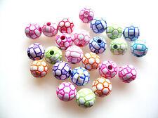 25 Mixte Perles Football belle 10mm Perles rondes + fast livraison gratuite
