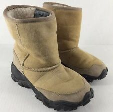 Merrell Yeti Natural Suede Boots Size 6 Slip On