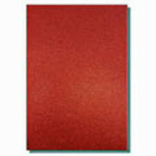 2 x A4 SHEETS OF 220GSM PREMIUM DOVECRAFT RUBY RED GLITTER CARD