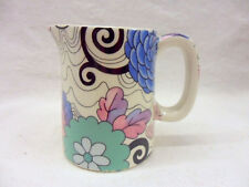 Blue woodstock design mini cream jug pitcher jug by Heron Cross Pottery