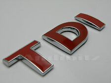 ROSSO CROMATO TDI T5 VAN CAR BADGE VW GOLF POLO LUPO GTI PASSAT BORA TRANSPORTER