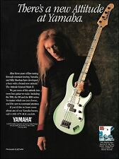 Billy Sheehan 1994 Yamaha Attitude Limited Mark II Bass guitar 8 x 11 ad print