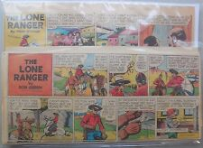 (25) Lone Ranger Sunday Pages by Fran Striker and Charles Flanders from 1946