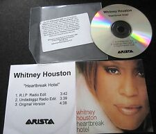 "WHITNEY HOUSTON ""HEARTBREAK HOTEL"" UK REMIX PROMO CD"