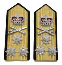 Epaulettes Vice Admiral 3 Stars Shoulder Boards Press Stud & Strap at Back R1031