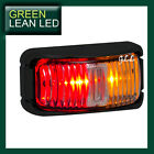 12V 24V LED MARKER SIDE LIGHT LAMP SUBMERSIBLE TRUCK TRAILER AMBER RED INDICATOR