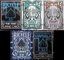 Bicycle Grid Playing Cards 5 Deck Set - Limited Edition - SEALED-