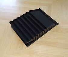 USM Inos Schrägfächer C4 Set schwarz zu Schublade A6 / A5