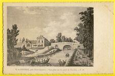 cpa Litho SAINT QUENTIN (Aisne) OËSTRES Canal de PICARDIE Pêcheurs Filet Barques
