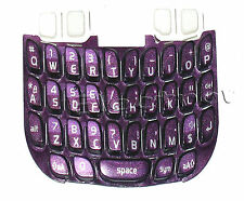For Blackberry Curve 8520 Keypad Keyboard Qwerty Buttons Repair Part Purple UK