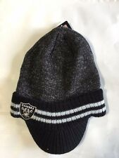 Oakland Raiders Knit Beanie Winter Hat Toque Skull Cap New Visor Brim