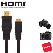 Pentax 645d, k-5ii / k-5iis, Gxr Cámara Réflex Digital Hdmi Mini Monitor TV del cable 2.5 m