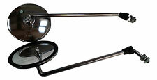 ukscooters VESPA PAIR OF LEFT RIGHT HEADSET CHROME SIDE MIRRORS PX LML LAMBRETTA