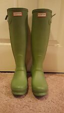 Hunter Boots Original Slim Zipper Matte Olive Green Size 8