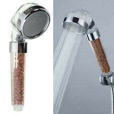 Bathroom Booster SPA Anion Water-saving Handheld Rain Shower Spray Head Nozzle