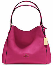 NWT Coach Edie 31 Pink Refined Pebble Leather Shoulder Bag Purse 36464 New $350