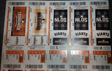 2016 SF GIANTS VS CHICAGO CUBS NLDS GAME 3 AND 4 TICKET STRIP STUB