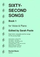 Sixty-Second Songs Book 1 for voice & piano RM763