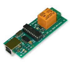 USB One Relay Controller - RS232 Serial controlled  PCB