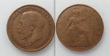 Objet de collection 1916 king george v bronze one penny