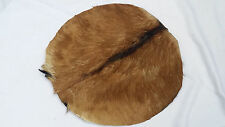 "Djembe Drum Head 18"" Goat Skin Natural Fur/Bonga Drum Head Skin 18""/Renaissance"