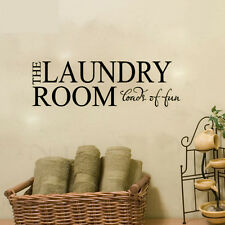 THE LAUNDRY ROOM LOADS OF FUN Quote Wall Sticker Home Decor Wash Room Art Decal