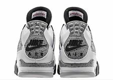 2016 Nike Air Jordan Retro 4 IV OG 89 White Cement 840606-192 DS Sz 14 Max 1 i V