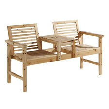 Garden love seat companion set table banc chaises duo patio extérieur 2 places