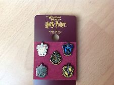 BN HARRY POTTER TEENY CREST PIN BADGE SET UNIVERSAL STUDIOS