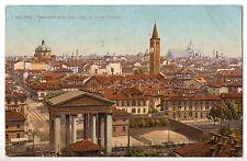 CARTOLINA DI MILANO PANORAMA VISTO DA PORTA TICINESE 1921